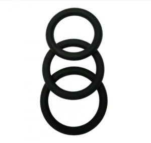 Three Piece Classic Scrotum & Penis Ring Set - Malesation